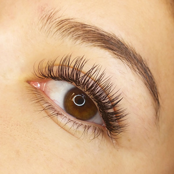Ellipse Flat Eyelash Extensions Effect